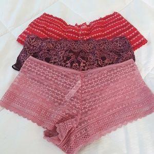 lot of 3 Victoria's Secret panties size M